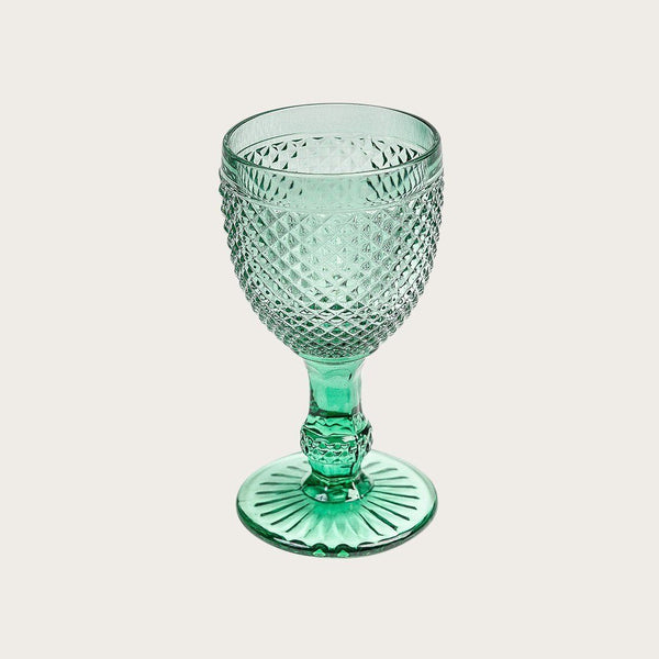 6 x Renaud Goblets Texture Wine Glass in Green
