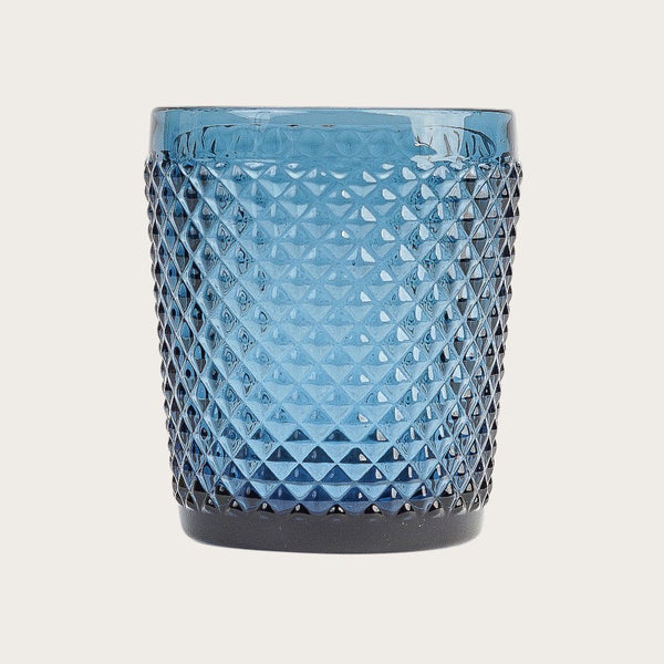Tanguy Textured Glass Tumblers in Blue (Set of 4)
