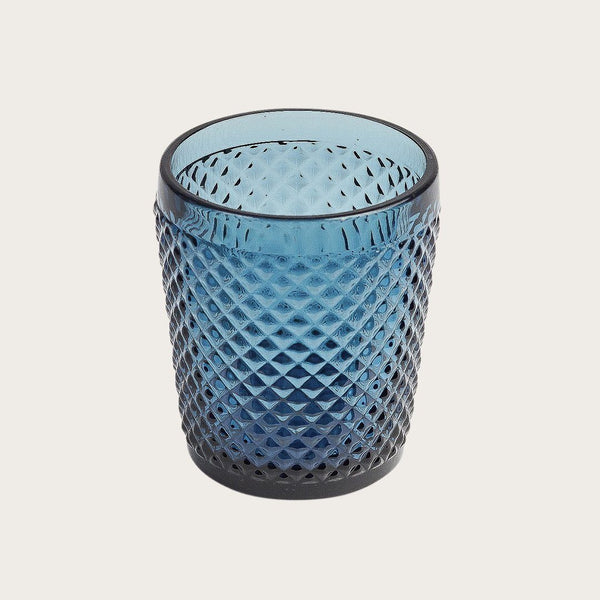 Set of 4 Tanguy Textured Glass Tumblers in Blue