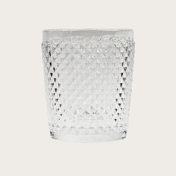 Set of 4 Tanguy Textured Glass Tumblers in Clear
