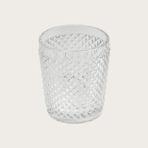 Tanguy Textured Glass Tumblers in Clear (Set of 4)