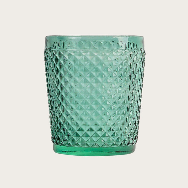 Set of 6 Tanguy Textured Glass Tumblers Green