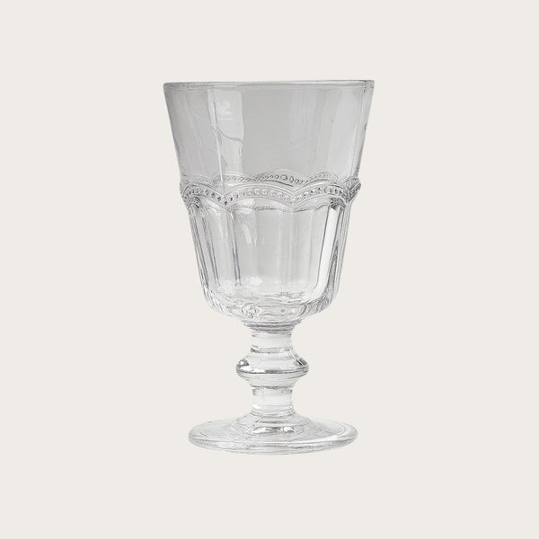 Adnet Detailed Wine Glass in Clear
