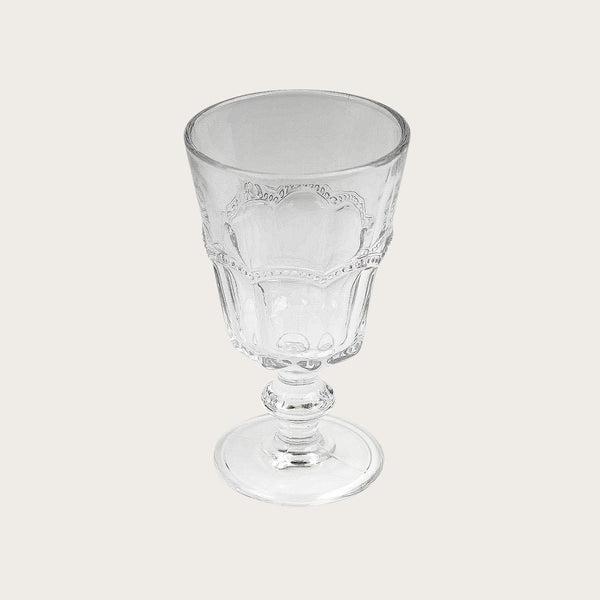 Adnet Detailed Wine Glass in Clear (Set of 4)