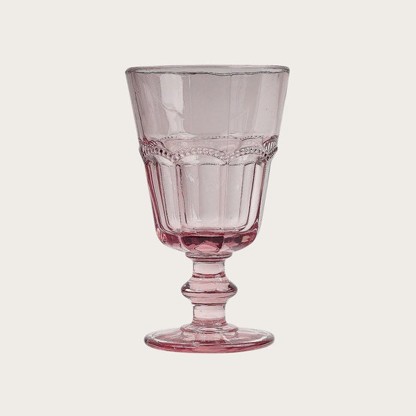 Adnet Detailed Wine Goblet in Pink