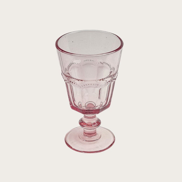 Adnet Detailed Wine Glass in Pink