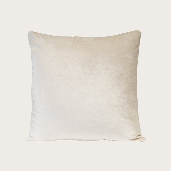 Taj Velvet Cushion Cover in Light Beige