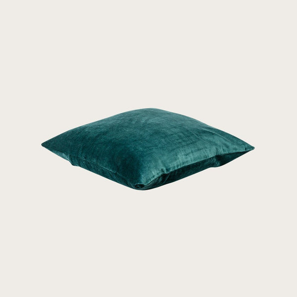 Taj Velvet Cushion Cover in Deep Teal