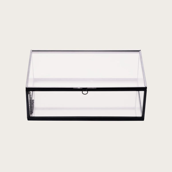 Houdini Large Glass Jewellery Box in Black