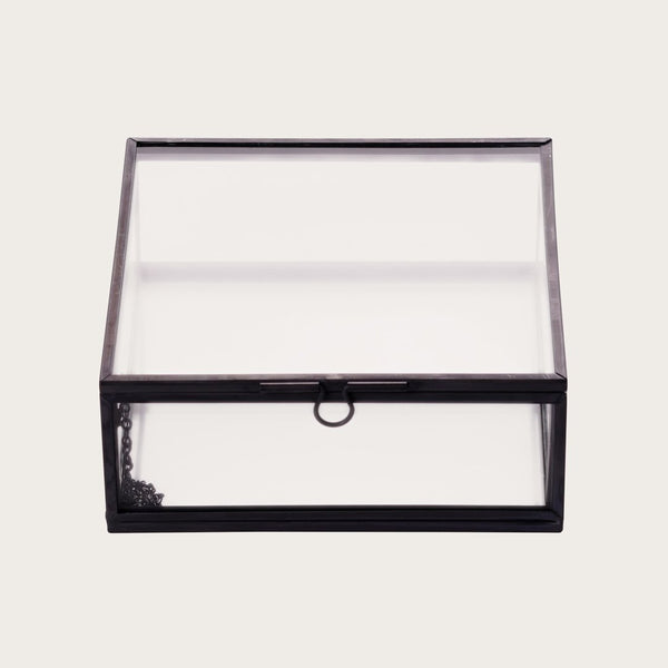 Houdini Small Glass Storage Box in Black