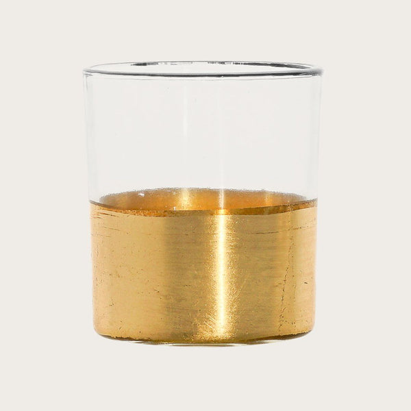 Set of 2 Atlas Small Glass Candle Holder
