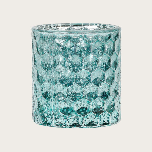 Akila Metallic Glass Candle Holder