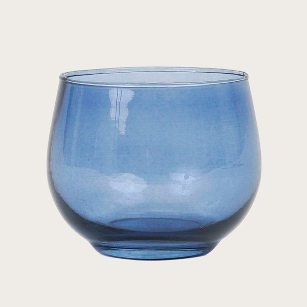Set of 2 Svana Glass Candle Holders in Blue