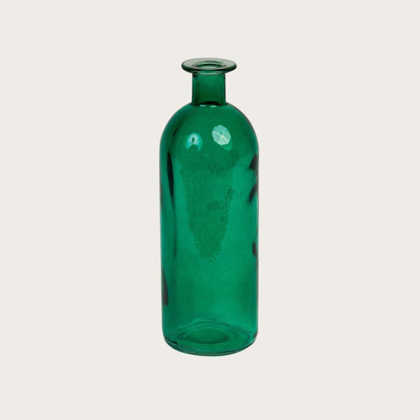 Set of 2 Esme Medium Glass Vases in Green