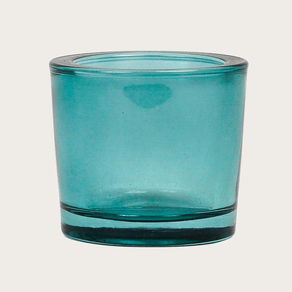 Set of 2 Esperanza Glass Candle Holder in Aqua