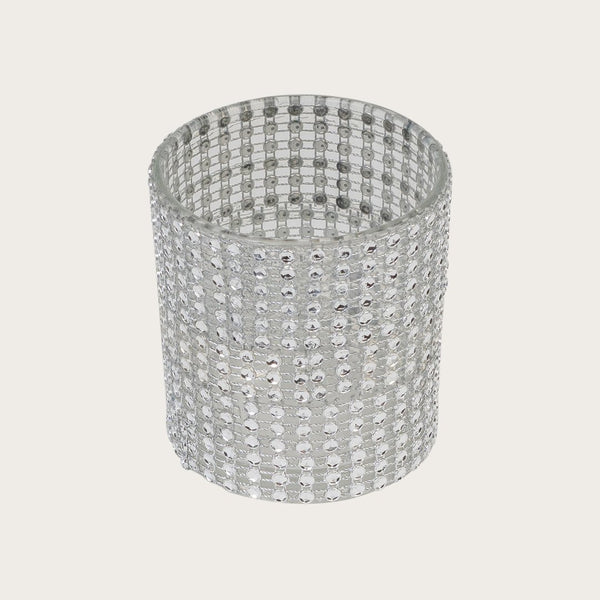Giulia Glass and Diamante Candle Holder