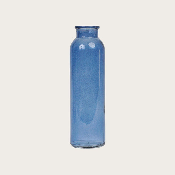 Iris Glass Vase in Blue