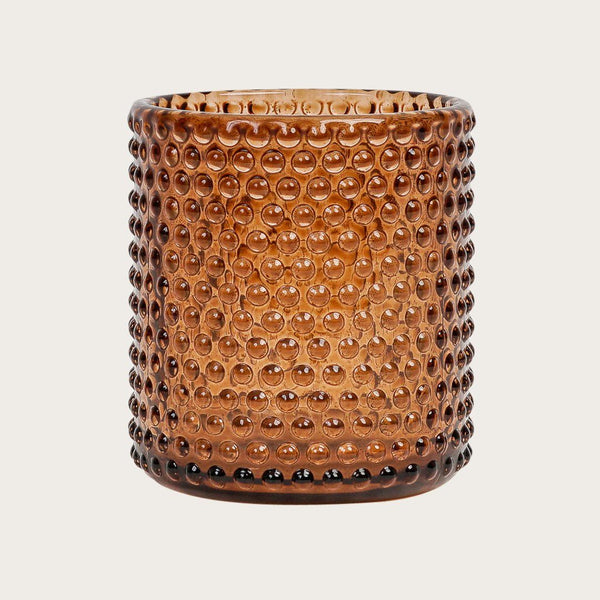 Amelia Small Textured Glass Candle Holders in Bronze