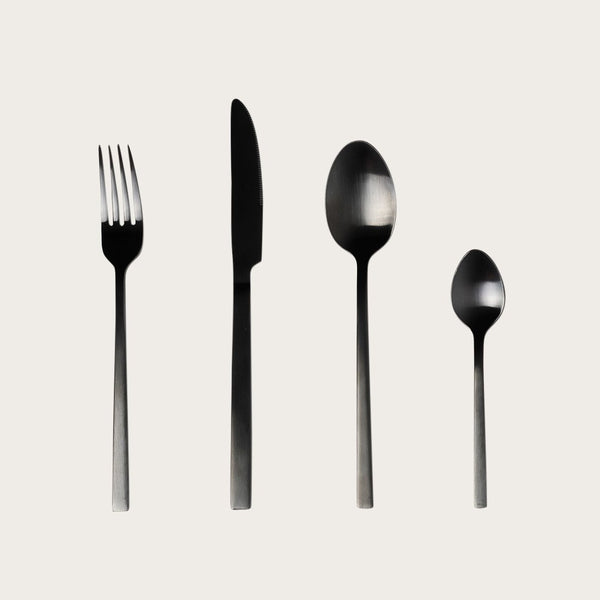 Beltza Matte Black Dinner Spoon