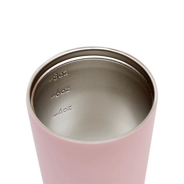 Small Reusable Insulated Coffee Cup by Fressko 227ml in Pink