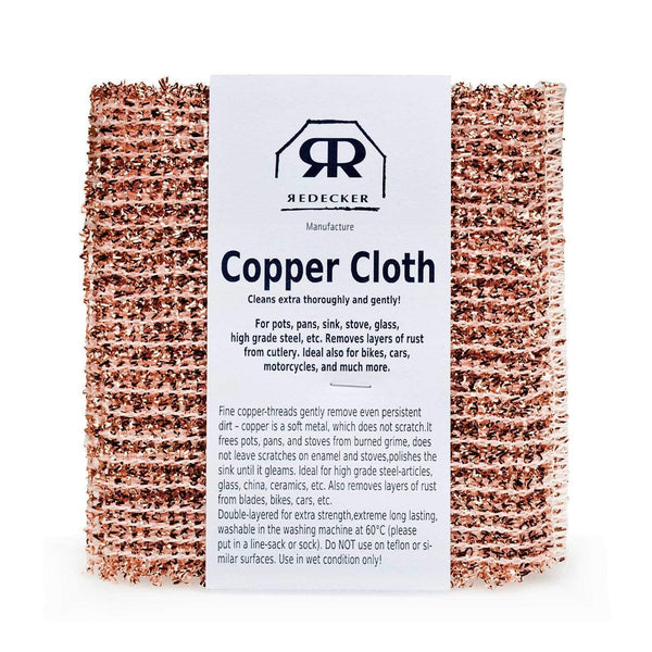 Set of 2 Copper Cloth by Redecker