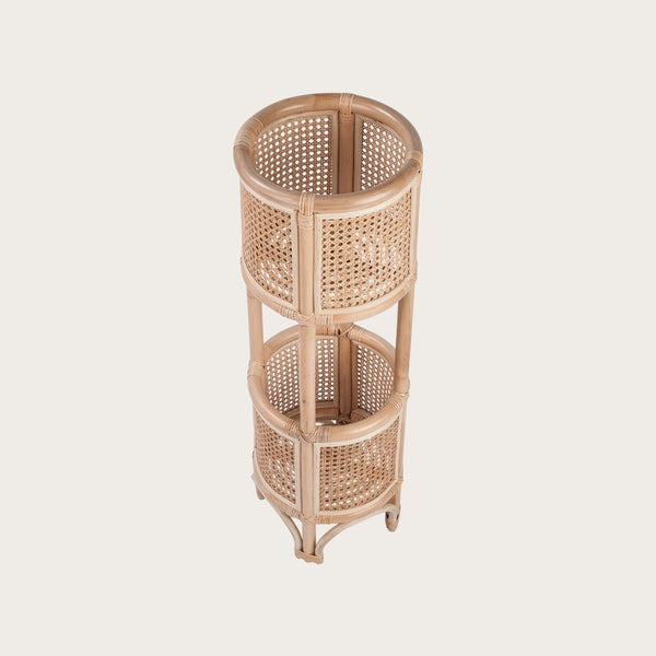 Kona Rattan Double Pot Plant Holder in Natural