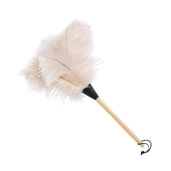 White Ostrich Feather Duster 50cm By Redecker
