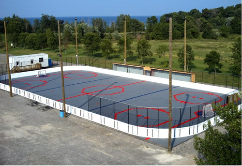 Olympic Size ProWall Rink System - Custom Color
