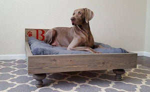 Personalized Solid Wood Jumbo Pet Beds