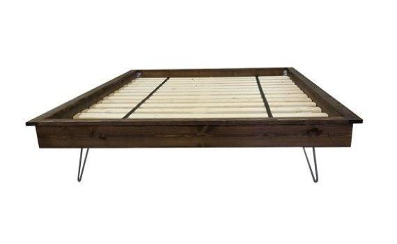 Hairpin Leg Platform Bed - Industrial Modern
