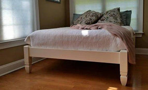 Four Post Low Profile Chelsea Bed in Solid Wood — STAINED