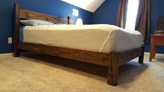 Platform Four Post Bed with Headboard (PAINTED)
