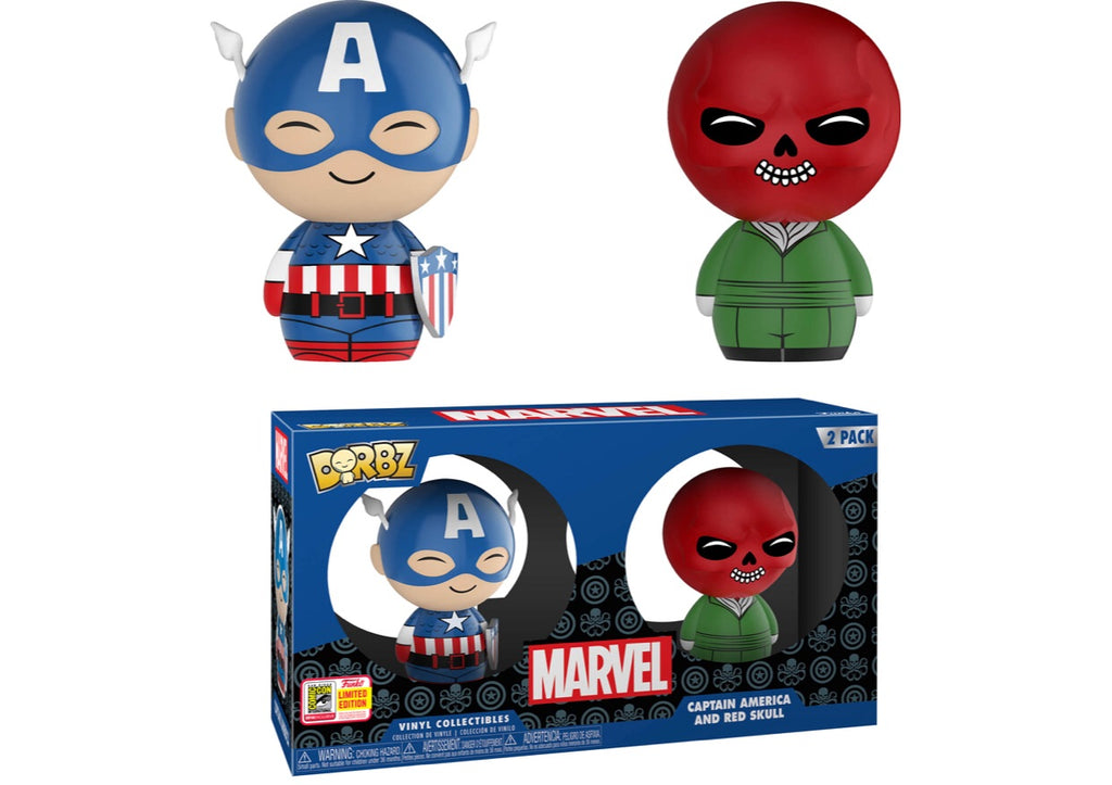 FUNKO DORBZ MARVEL: CAPTAIN AMERICA & RED SKULL 2 PACK (Summer Convention)
