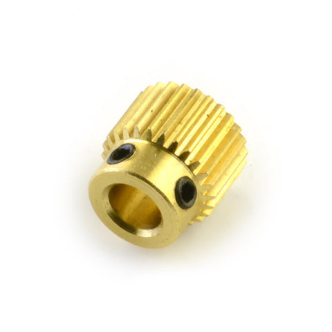0T Brass Filament Drive Gear Pulley for RepRap 3D Printer Extruder with 5mm Bore; for NEMA 17 Stepper Motor.