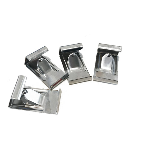 (4) Swiss Mounting Clips for Borosilicate Glass Beds