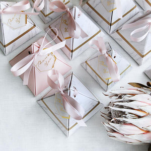 Marbled Pyramid Candy Box