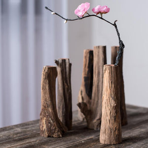 Mini Wooden Tree Branch Flower Vase