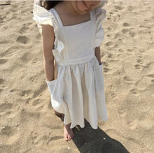 Girls BoHo Cotton Dress with Ruffles