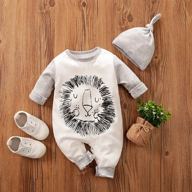 'Fierce' Lion Romper with Beanie