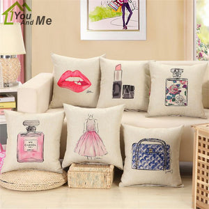 Lipstick & Fashion Cushion/Pillow Cover