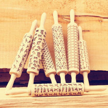 Patterned Wooden Rolling Pin