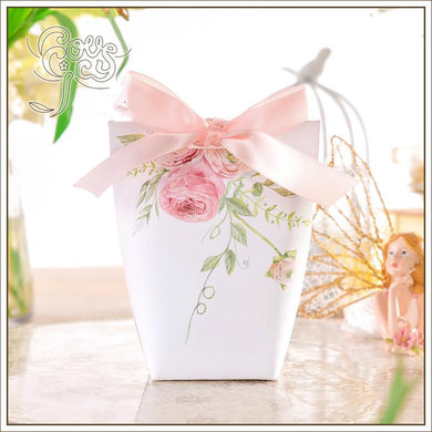 Pink Flower Candy Box