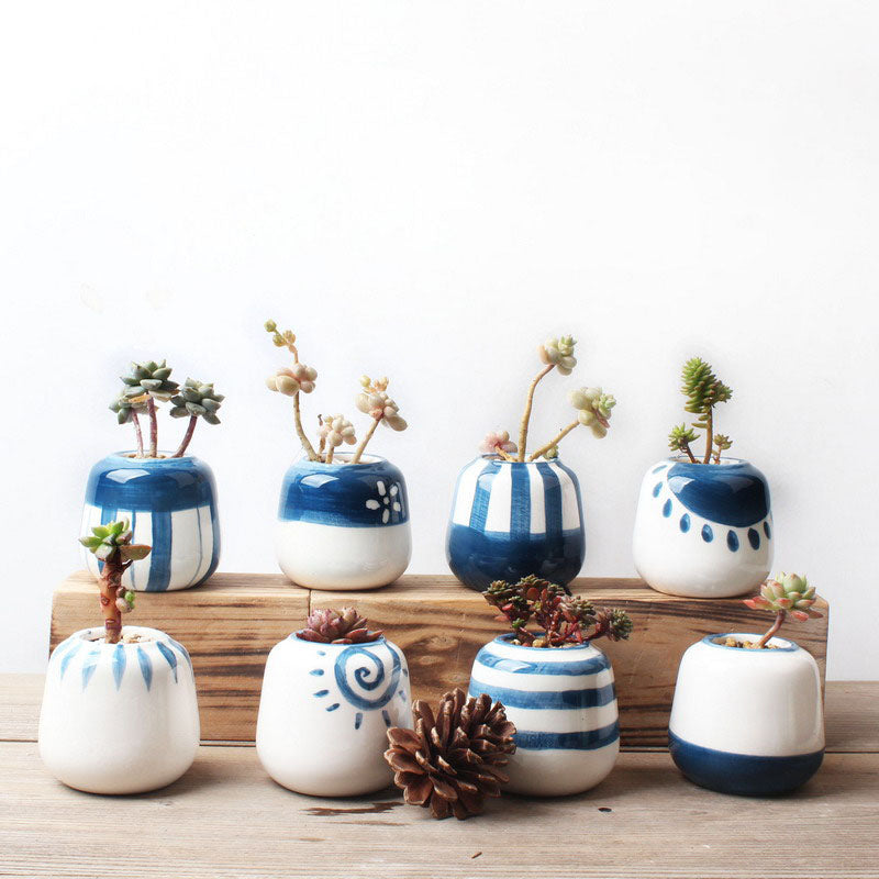 Mini Ceramic Succulent Plant Pot