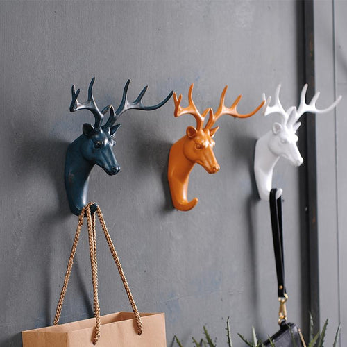 Modern Deer Head Wall Hooks