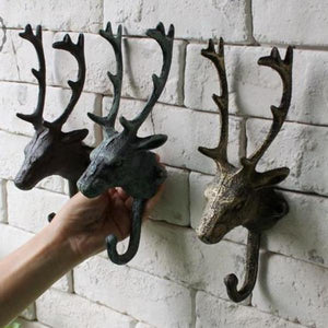 Rustic Deer Cast Iron Wall Hooks