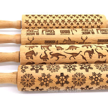 Beech Wood Embossing Rolling Pin