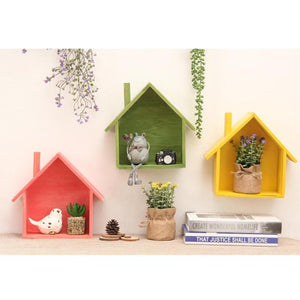 Retro Wooden Wall Shelves