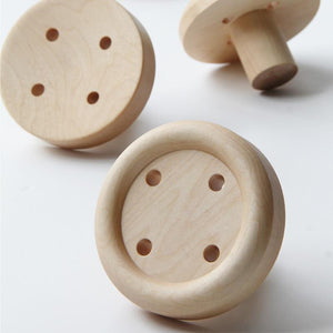 Wooden Button Wall Hooks