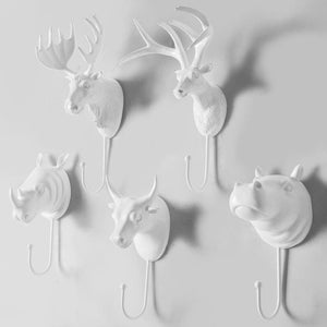 Animal Head Wall Hooks