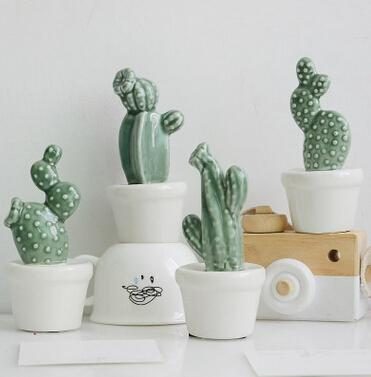 Ceramic Cactus in Pot